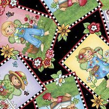 Mary Engelbreit Mary's Fairies Picture Patches Fabric 25891-J  By the Yard