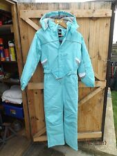 TRESPASS ONE PIECE GIRLS SKI SUIT,INSULATED,SIZE 11/12 YRS,140/150 CM,BABY BLUE