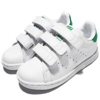 adidas Stan Smith CF I White Green Leather Infant Toddler Baby Shoe BZ0520