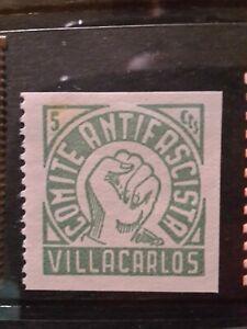 SPAIN CIVIL WAR GUERRA - VILLACARLOS - LOCAL CITY POST