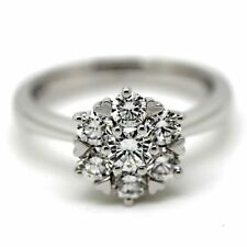 Anniversary Cluster Very Good Cut Round Fine Diamond Rings