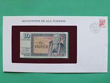 1961 Islande 10 kronur Universel Franklin Comme neuf billet Housse SNo46129