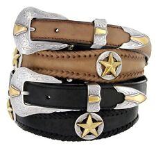 Men's Western Star Concho Genuine Leather Jean Belt