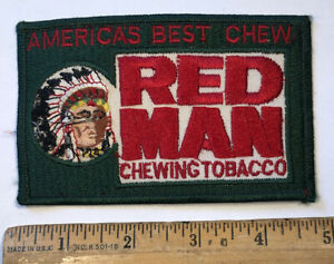 Vintage Redman Chewing Tobacco Patch America's Best Chew Red Man Logo As Is