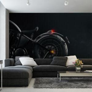 VLIES FOTOTAPETE Tapete Wandbilder XXL Büro Motorrad Chopper Nebel 3120