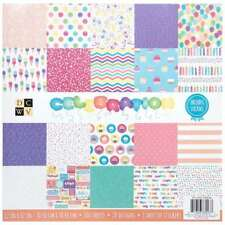 DCWV 12 x 12 Inch 100 Sheets Celebration Paper Pad Stacks Cardstock
