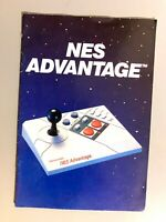 Original NINTENDO NES ADVANTAGE Instruction Manual Booklet 1st Print RARE