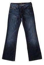 7 FOR ALL MANKIND sz 27 x 29 Boycut Jeans Stretch New York Dark Wash Button Fly