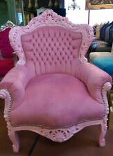 ARMCHAIR BAROQUE STYLE PINK / PINK # F30MB140
