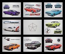 8 ART PRINTS POSTERS: DODGE CHARGER DAYTONA 500 1968 1969 1970 1971 440 426 HEMI