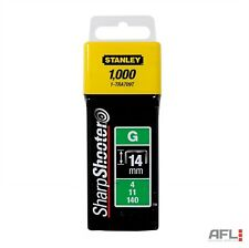 1000 Pack Stanley Sharpshooter TRA709T Type G Heavy Duty Staples 14mm