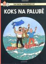 Tintin Coke en Stock Hergé album Tchèque Original CZECH langue étrangère Edition