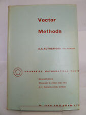 VECTOR METHODS by DE RUTHERFORD 1962 UNIVERSITY MATHEMATICAL TEXTS