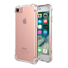 For iphone 8 X 6S 7 Plus Case Clear Hybrid Slim Shockproof Soft TPU Bumper Cover
