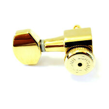 "HIPSHOT *GOLD* GRIP-LOCK Closed GUITAR TUNING MACHINES .827""(21mm) *TREBLE SIDE*"