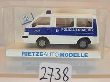 Rietze 1/87 Nr. 50208 Misubishi L300 Bus Policia Local Spanien OVP #2738