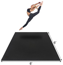 Gxmmat Large Yoga Mat 6'x6'x7mm, Thick Workout Mats for Home Gym Flooring, Extra