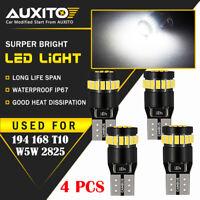 4X 194 168 W5W 2825 License Plate Light Interior Wedge Bulb CANBUS LED White EA
