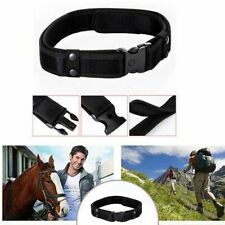 Police Security Tactical Combat Gear Black Utility Nylon Duty Belt Outdoor Black
