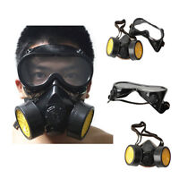 Safety Anti-Dust Spray Chemical Gas Dual Cartridge Respirator Paint Filter Mask