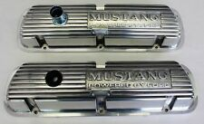New! Mustang Script Letter Valve Covers Powered by Ford Polished 260 289 302