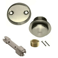 Brushed Nickel Toe Touch Conversion Kit Tub Drain Overflow and Removal Tool