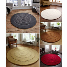 Solid Pattern Contemporary 100% Wool Rugs
