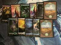 MtG: Magic The Gathering - Full Art Basic LAND LOT - 11 Lands - 9 lands are foil