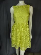 ADRIANNA PAPELL Green Sleeveless Fit and Flare sheath Dress 8