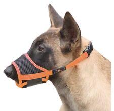 New listing Raindee (Heele) Dog Muzzle Nylon Mesh Anti-Bite - Colors: Orange/Black - Size: M