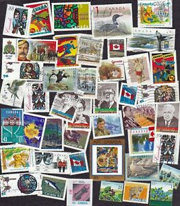 Canada - Packet of about 40 postage stamps - All Different - used/unused - 12002