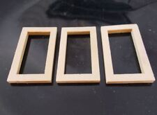 20pcs 50mm x 30mm WOODEN LINKING RINGS Rectangle Unpainted Window Wood Beads B22