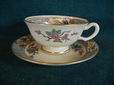 Lenox Ming P16 Older Mark Footed Cup and Saucer Set(s)