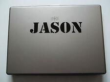 1 x nome personalizzato adesivo per notebook vinile decalcomania Stencil Font ARMY Kids