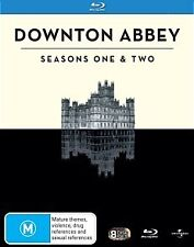 DOWNTON ABBEY: COMPLETE SEASONS 1 & 2 - BRAND NEW/SEALED BLU RAY (MAGGIE SMITH)