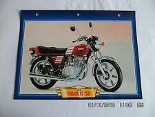 CARTE FICHE MOTO YAMAHA XS 250    1976