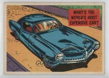 1957 Topps Isolation Booth #29 What's The World's Most Expensive Car? Card 0u7