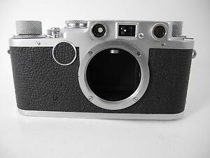 LEICA IIF BLACK DIAL VERY CLEAN WORKS WELL FILM TESTED EARLY 573#