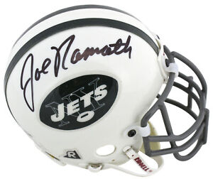 Jets Joe Namath Authentic Signed Vintage Authentic Mini Helmet BAS
