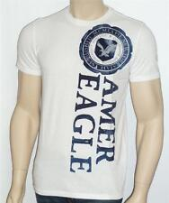 American Eagle Outfitters AEO Mens NE Collegiate Flocked White T-Shirt New NWT