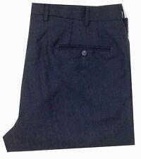 $285 Bloomingdales 36w Men'S Charcoal Gray Wool Regular Fit Dress Trousers Pants