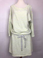 Victoria Secret Womans Dress Swim Cover Up Size Large Yellow/Grey Striped