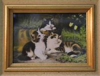 Manufaktur HAFFKE Miniatur Katzen Lupen-Malerei