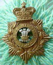 More details for north staffordshire regiment helmet badge qvc 130 mm bi-metal victorian antique