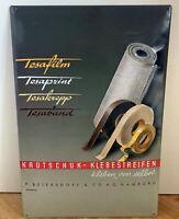 """Geprägtes Blechschild TESA FILM """"Werbeplakat von 1948"""" Retro-Repro 39,5 x 59 cm"""