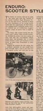 1965 Enduro: Scooter Style Motorcycle Dirt Racing - 1-Page Vintage Article