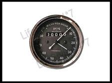 10 Smith Replica Speedo Meter 0-80mph Miles Black BSA Royal Enfield