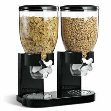 Dispenser Storage Doppio Contenitore Dosatore Distributore Cereali Pasta black
