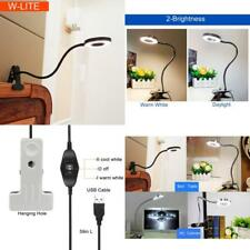 Reading Lamp Clip on For Bed Headboard 2 Light Color Switchable Adjustable Neck