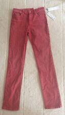 Esprit high rise & Straight Jeans Pantalon Bordeaux 25/32 NEUF